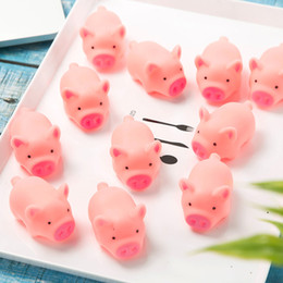 Wholesale Toys Ships Australia - Cute Dog Toys Pink Screaming Rubber Pig Pet toys Small Dog Cat Squeak Squeaker Chew Toys Gift home decorations 4.5cm Free Shipping