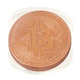 Опт Физическая биткойн-монета Виртуальная монета BTC Криптовалюта Трейдеры Подарок для энтузиастов Памятная коллекция монет Домашняя комната Офис Art Decoratio