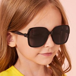 Discount sun sunglasses korean Luxury Designer Square Kids Sunglasses For Children Colorful Ocean Lenses Sun Glasses Korean Style Boys Girls Baby