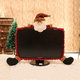$enCountryForm.capitalKeyWord Australia - Hoomall 19-27 Inch Santa Claus Snowman Christmas Decorations For Computer Set TV Television Display Frame Cover Dust Protection