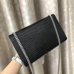 Discount designer bag silver Crocodile Pattern Leather Ladies Shoulder Bag Fashion Tiny Square Women Crossbody Classic Designer Luxury Handbags Purse
