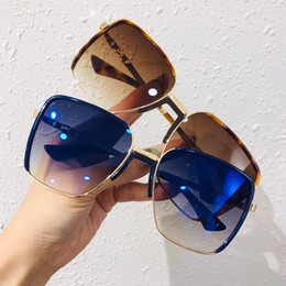 $enCountryForm.capitalKeyWord NZ - 0340 Women Luxury Sunglasses Square Full Frame UV400 Lens Sunglasses with Stamp Top Quality Come with Box