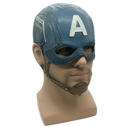 Adult Captain America Mask UK - Hot Captain America Mask Realistic Superhero Halloween Masks Mask DC Movie Latex Mask Cosplay Costume Props Toys Masquerade For Adults Men