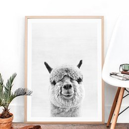 PhotograPhy decor online shopping - Animal Alpaca Art Print and Poster Alpaca Photography Canvas Painting Picture South American Animal Wall Art Decor