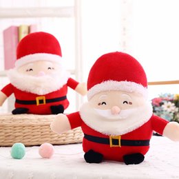 old movie decorations UK - Santa Claus Plush Doll 20cm 25cm Cute Christmas Stuffed Toys Xmas Soft Doll Kids Toys Cartoon Table Decoration
