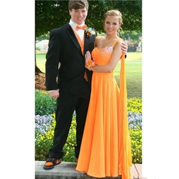 $enCountryForm.capitalKeyWord Australia - Elegant One Shoulder Orange Prom Dresses A Line New 2019 Crystals Beaded Sweetheart Formal Evening Gowns Long Cheap Chiffon Party Dress