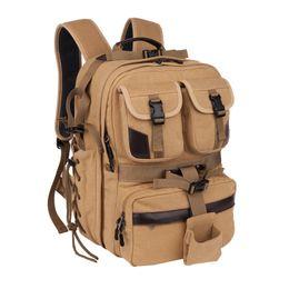 $enCountryForm.capitalKeyWord UK - Canvas Digital Large Dslr Camera Bag Waterproof Professional Camera Travel Photo Double-Shoulder Backpack Bag