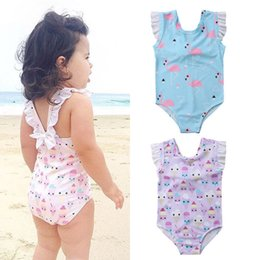 Swimwear Infant Australia - Kids Bathing Suit Girls one Piece Flamingo Ice Cream Bikini 2018 children swimwear for girls infant swimsuit child Summer bikini