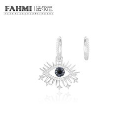 sapphire studs earrings UK - FAHMI 100% 925 Sterling Silver Lucky Eyes Asymmetric Earrings Female AE11490M High Quality Women's Jewelry Free Shipping