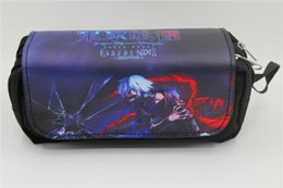 Tokyo ghoul bags online shopping - Japan anime Tokyo Ghoul Pen Bag Anime High capacity Double Pencil bag Stationery Cosmetic Make up Bags Cases style