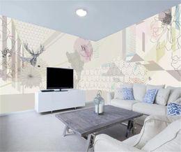 $enCountryForm.capitalKeyWord Australia - Modern Abstract Elk Magnolia Pattern Decoration Full House Background HD Digital Printing Moisture Wallpaper
