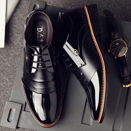 $enCountryForm.capitalKeyWord Australia - Hot Sale-Height Increasing 6cm Men Dress Shoes Black Patent Leather Formal Shoes Men Brown Black Wedding Elevator Oxford Shoes for Men