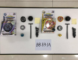 Wholesale Beyblade Pack Australia - New Spinning Top Beyblade BURST B-102 B-103 With Launcher And Original Box Metal Plastic Fusion 4D beyblades Toys in loose packing