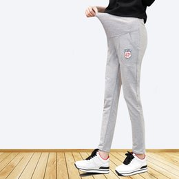 white cotton drawstring pants women Canada - Autumn Spring Summer Pure Cotton Maternity Leggings Towable Abdominal Pregnancy Pants Clothes For Pregnant Women Adjustable