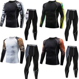 Silver Clothes For Men Australia - Men's sports compression suit REXCHI for men, sportswear for gym, running clothing, sportswear, training, training, training meshes