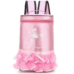 girls bags for dancing Australia - Children Ballet Bag Ballet Shoulder Embroidery Sports Bag Girls Pink Gymnastic for Children Dance Bags