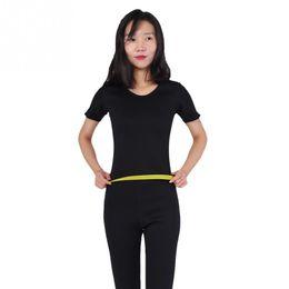 $enCountryForm.capitalKeyWord Australia - Neoprene Women Fitness Slimming Sauna Suit Hot Sweat Shirt Short Sleeve Body Shaper