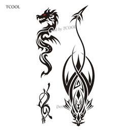 921872b2e TCOOL Dragon Women Temporary Tattoo Sticker Tattoos for Waterproof Men  Fashion Body Art Kids Hand Fake Tatoo 10.5X6cm A-216