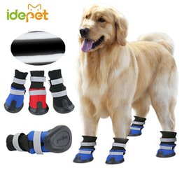big dog shoes 2019 - Spring Outdoor Large Dog Shoes Anti Slip Big Dog Boots for Medium Large Dogs Golden Retriever Reflective Warm Pet Shoes