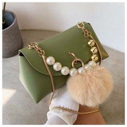 $enCountryForm.capitalKeyWord Australia - Girls Single Shoulder Bags Chain Purse Wallet Artificial Pearls Artificial Pearls Design Sturdy And Durable Hot Sale 27yg O1