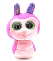 "Sparkle Toy Australia - Stuffed & Plush Animals Doll Toys for Children Gift WILD ANIMALS Big Eyes 6"" Plush Snail with Sparkling Sequins Animal Toys"