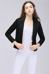 2020 Stock MisShow Women Blazers and Jackets Buttons One Piece High Low Design Half Sleeve Slim Suit Office Bandage Back Female FS1677 on Sale