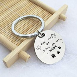 Wholesale awesome gifts for sale – custom Letter Even The Cat Thinks You Are Awesome Creative Keychain For Man Woman Fashion Jewelry Gift