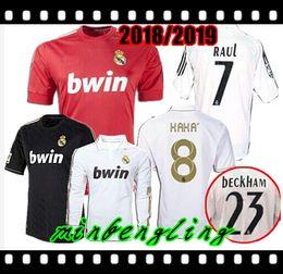 a616bd689 Best Retro 2011 2012 Real Madrid Home Soccer Football Jersey Sergio Ramos  KAKA HIGUAIN RONALDO ZIDANE Beckham 2005 06 RAUL Robinho Long slee