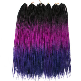 $enCountryForm.capitalKeyWord Australia - 24 inch Ombre Senegalese Twist 2x Hair Crochet 30 Roots Synthetic Crotchet Braiding Hair for Women 100g Pack (5 Packs Lot)