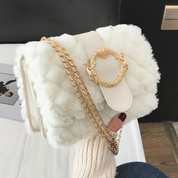 Ladies Lace Handbags Australia - 2019 Winter Fashion New Ladies Square Bag High Quality Soft Plush Women's Designer Deluxe Handbag Chain Shoulder Messenger Bags