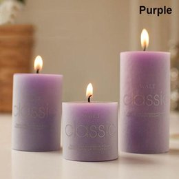 Valentine candles online shopping - Christmas Valentine S Day Scented Candles Classical Colorful Candle For Wedding Decoration Column Wax Smokeless Fragrant Candle