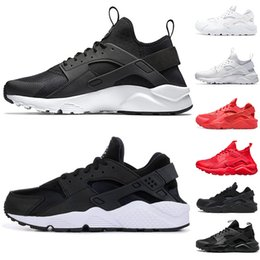 84265a0c56a8 Luxury 2019 Huarache 4.0 1.0 Classical Triple White Black red mens womens Trainers  Shoes Huaraches sports Sneaker Running Shoes eur 36-45