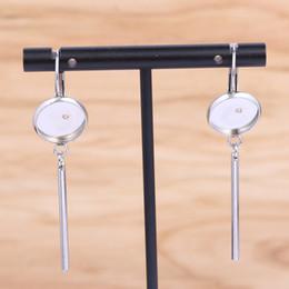 Base for earrings online shopping - shukaki stainless steel earring accessories fit mm cabochon base settings diy bezel blanks for earrings making