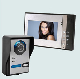 Screen Tft Lcd UK - 7 inch TFT LCD Wide screen color video intercom doorbell night vision rain monitoring function Outdoor unit Adjustable angle