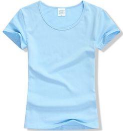 1645a8c449b2f 2019 Summer High Quality 15 Color S 2XL Plain T Shirt Women Cotton Elastic Basic  Tshirt Woman Casual Tops Short Sleeve T shirt