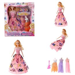 $enCountryForm.capitalKeyWord Australia - Princess Doll Toy Wedding Dress Party Dress Up Costume Girls Toy Birthday Gifts New Fashion Princess Doll Toy