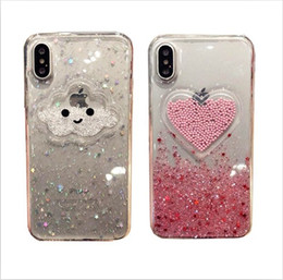$enCountryForm.capitalKeyWord Australia - Cloud love mobile phone case for iPhone XR mobile phone shell max package side Apple 7plus Korean girl heart 8p anti-fall
