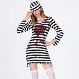 devil costumes women Australia - Halloween Purim Scary Striped Blood Zombie Corpse Costume Adult Costumes Cosplay Dress For Women Party Cosplay devil