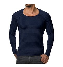 Xxl Knitting Shirt Australia - Quick Sell 2019 European and American Knitted Slim T-shirt with Long Sleeve and Round Neck Amazon