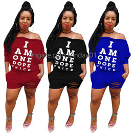 Wholesale Women S Clubwear Clothing Australia - Women 2 Piece Outfits Short Sleeve Shirt Tops and Pants Set Sports Tracksuit Casual Clubwear Large Lips Print Home Dress Lady Clothing Set