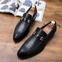 Wholesale Casual Driving oxfords formal shoes mens leather wedding shoes loafers Moccasins Italian Shoes for Men SIZE