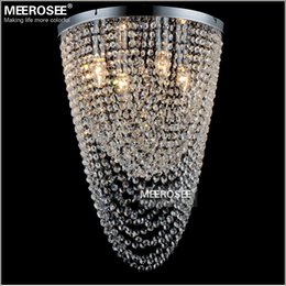 hallway ceiling light fixtures modern Australia - Flush Mounted Modern Chandelier Light Fixture Crystal Curtain Bedroom Kitchen Aisle Porch Ceiling Lamp Hallway Crystal Home Lighting