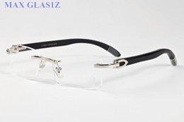 $enCountryForm.capitalKeyWord NZ - Wholesale-novel goggle outdoor brands rimless sunglasses lady women black shades fashion retro buffalo horn glasses with original case