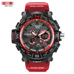 $enCountryForm.capitalKeyWord Australia - Orange Sport Watch SMAEL Brand Watches LED Digital Wristwach Multi-functional Men Clock Led Stopwatch 1531 S Shock Sport Watch 1531