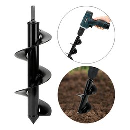 ground flower Australia - NICEYARD Hole Digger Digging Drill Bit Plant Flower Bulb Garden Ground Grass Drill Rapid Planter Hole for Hex Drive