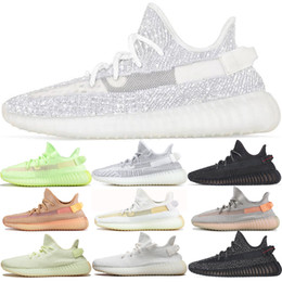 Discount wrestling shoes 12 - Men Women Running Shoes Black 3M Reflective Glow Static Clay True Form Hyperspace Cream White Butter Top Trainers Sports