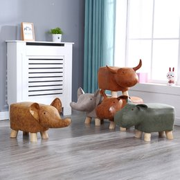 Animal Shoes Shoes Solid Wood Should Be Home Baby Cute Cartoon Sofa Stool Creative Elephant Children Small Bench on Sale