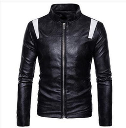 $enCountryForm.capitalKeyWord Australia - Wholetide Nice New Style Symmetrically Stitching Stand Collar Zipper Coat Man Tidal Current Zipper Dug Bag Casual Leather Jacket