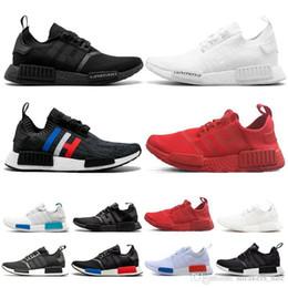 Shoe Cream Cheap Australia - Cheap R1 Japan triple white black men running shoes cream OG thunder camo mens trainers women sport sneakers EUR 36-45