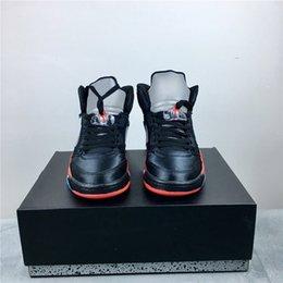 bc6d439a0 Оптовая продажа новых мужчин 5 атлас BRED черный / красный университет  136027-006 топ qulity дешевая цена баскетбольная обувь с коробкой